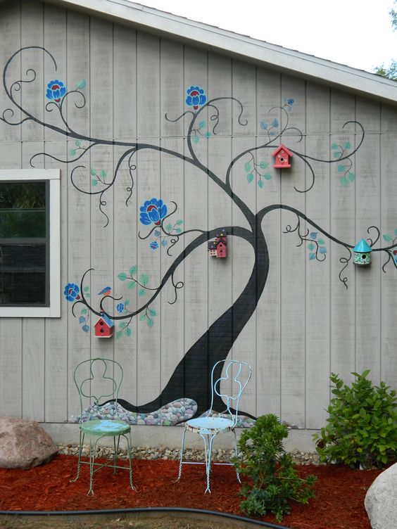 Wall Design Sheds And Paintings On Pinterest