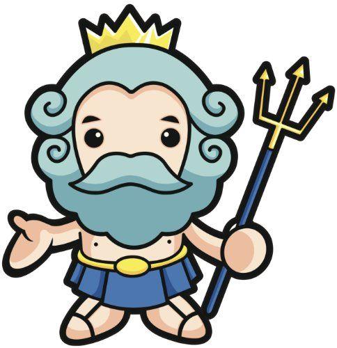 Poseidon Staff Tattoo: KAWAII GREEK MYTHOLOGY GOD POSEIDON CROWN STAFF LIGHT DARK