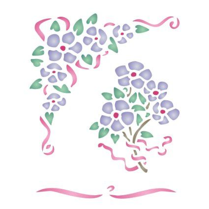 BRIAR ROSE FLOWERS Scrapbooking Stencil : REUSABLE White Translucent 6 mil Flexible Polyester Film : Use on PAPER PROJECTS, Furniture, Walls, Floors, Fabrics, Glass, Wood, Metal, Ceramic, Terracotta, and more...