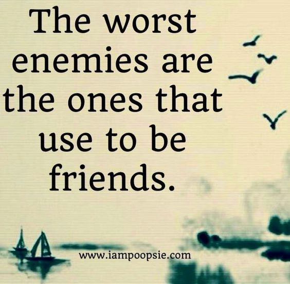 Quotes For Enemy Friends: Enemies, Friends And Sad On Pinterest
