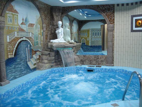 statue pool