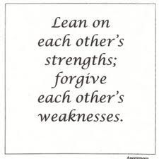 We all have weaknesses that need forgiveness.