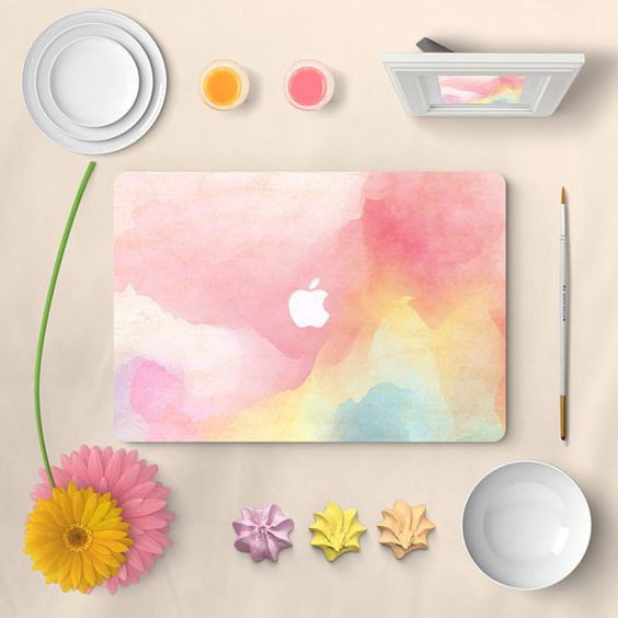 Apple macbook decal sticker front decal macbook air by MixedDecal
