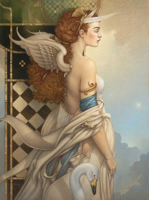Painting by Michael Parkes.: