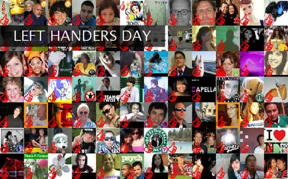 Left Handers Day - Resources - LEFT HANDERS DAY Twibute 100
