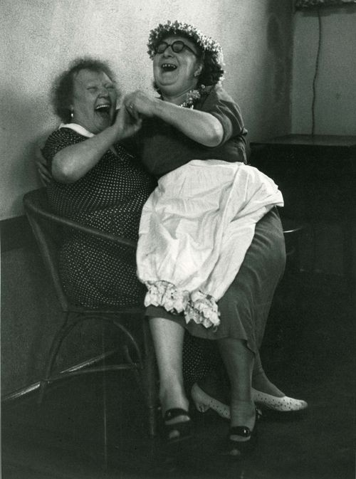 Crones know how to have a good time! Mother's Night Out at the Pub. 1950's.  Photographer: Grace Robertson