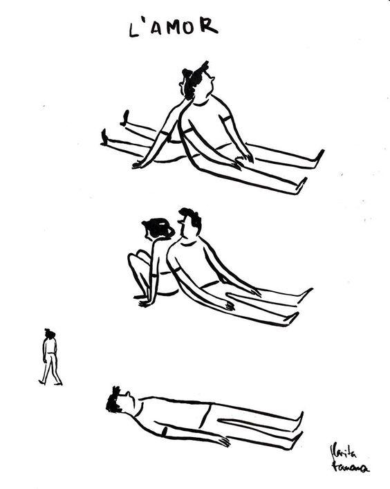 15 Ilustraciones sarcásticas de Flavita Banana sobre el amor.