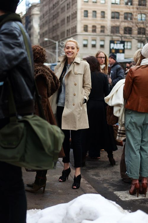 In The Crowd…..Hudson St., NYC « The Sartorialist - The Timeless Trench