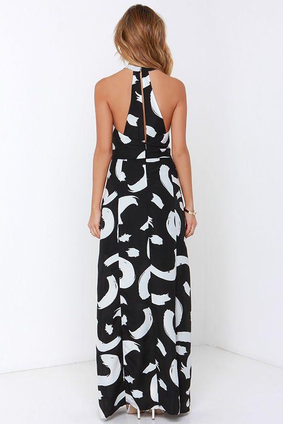 I. Madeline Be So Bold Ivory and Black Print Maxi Dress at Lulus.com!