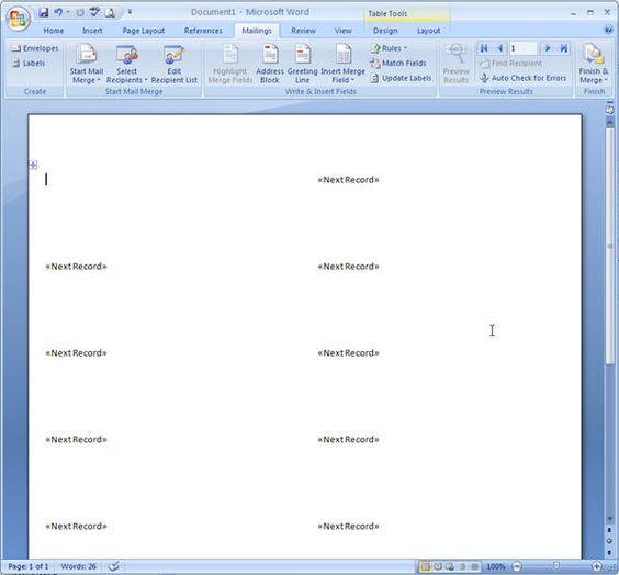 Word Mail Merge - 10