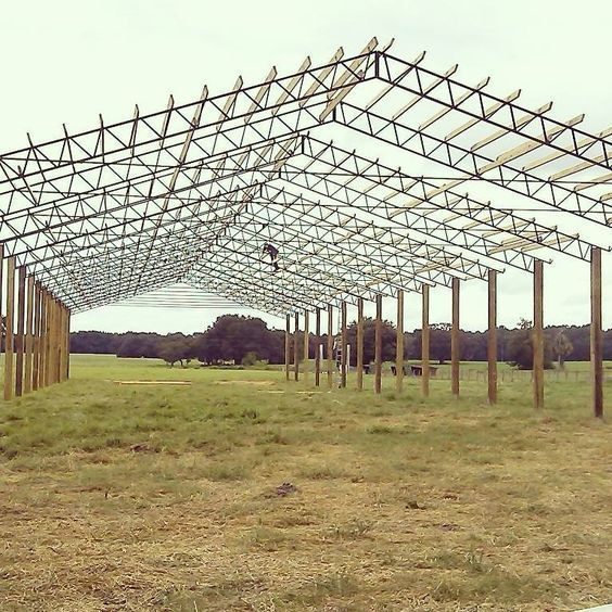 Install And Delivery Of Materials Such As Metal Roofing Pressure Treated Lumber Steel Truss Etc Used For Pole Bar Steel Trusses Pole Barn Trusses Pole Barn