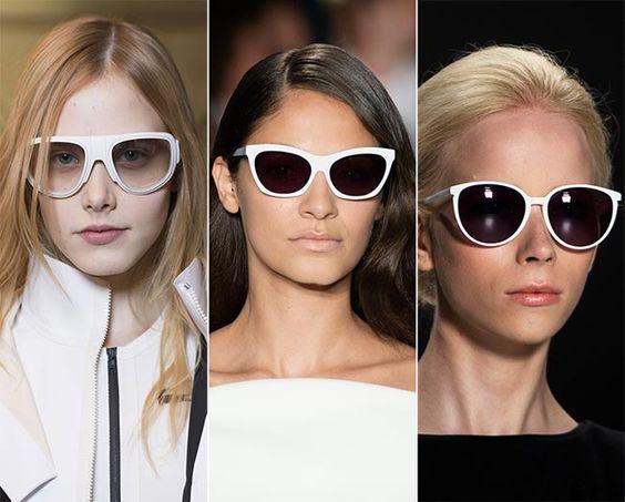 Spring/ Summer 2015 Eyewear Trends: White-Framed Sunglasses