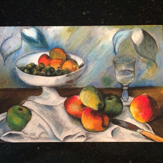 Trabalho de natureza morta, exercício em torno da arte de Paul Cezanne