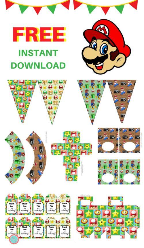 free super mario party printable