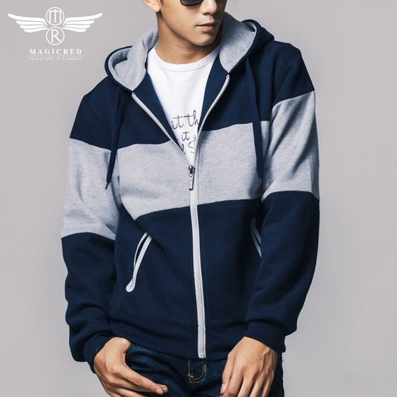 Aliexpress.com: FASHION VISTA Apparel and Shoes International Tradeより信頼できる 衣類オーストラリア サプライヤからスプリングコートスポーツの男性のパーカー綿屋外フルスリーブカジュアルフード付きコートターン ダウン首輪ブランド紳士服, mr606を購入します