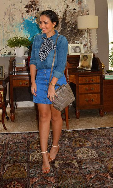 Look: All Jeans com Minissaia