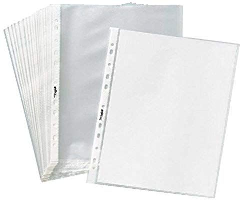 Amazon Com Tyh Supplies 100 Pack Economy 11 Hole Clear Sheet Protectors 8 1 2 X 11 Inch Non Vi Clear Sheet Protectors Sheet Protectors Office Supplies Design