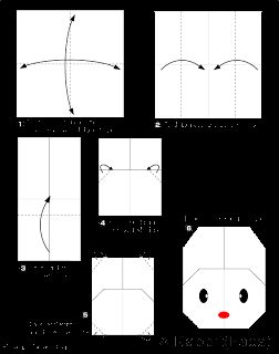 ARTE BUGIGANGA: Coelho - origami