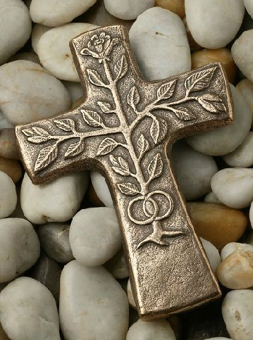 bronze tree of life wedding cross from the benedictine abbey of MarieLaach, germany: