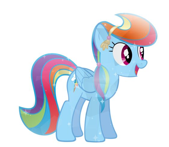 Crystal Rainbow Dash by ~Sairoch on deviantART
