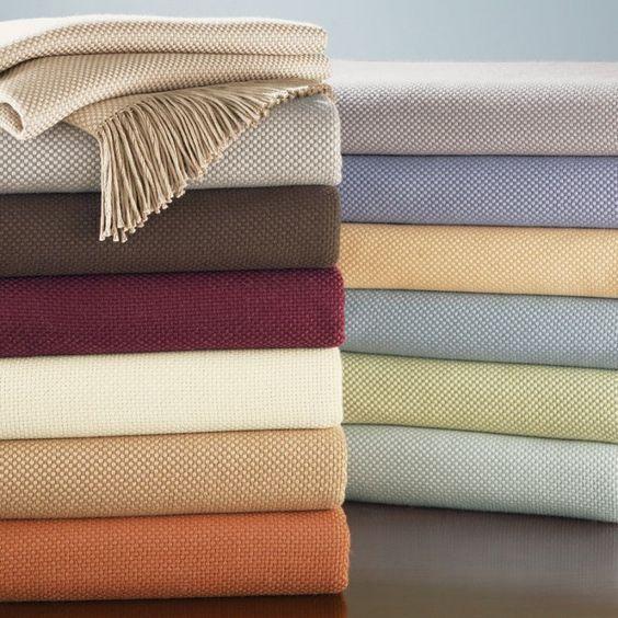 SFERRA Bristol: 85% cotton / 15% alpaca; dry clean only