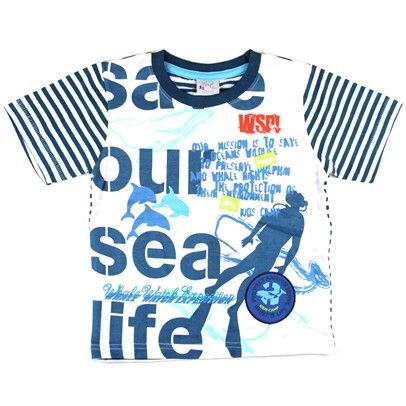 "What's Up Kids T-Shirt- ""Save our sea life"" White on mysale.com"