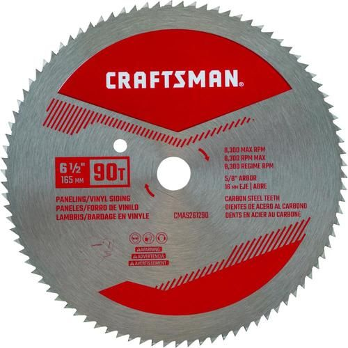 Craftsman 6 1 2 In 90 Tooth High Speed Steel Circular Saw Blade Lowes Com In 2020 Circular Saw Blades High Speed Steel Saw Blade