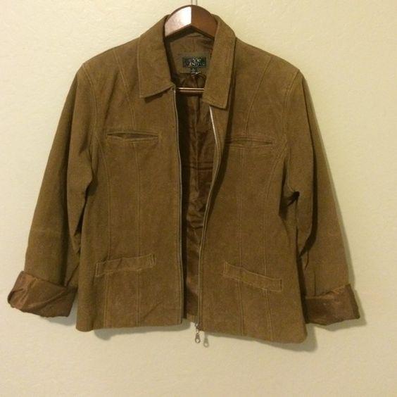 Brown suede jacket Killer vintage jacket. Brown/camel color. Eye candy Jackets & Coats