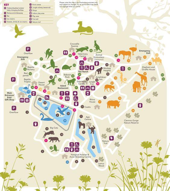 Paignton Zoo interactive map