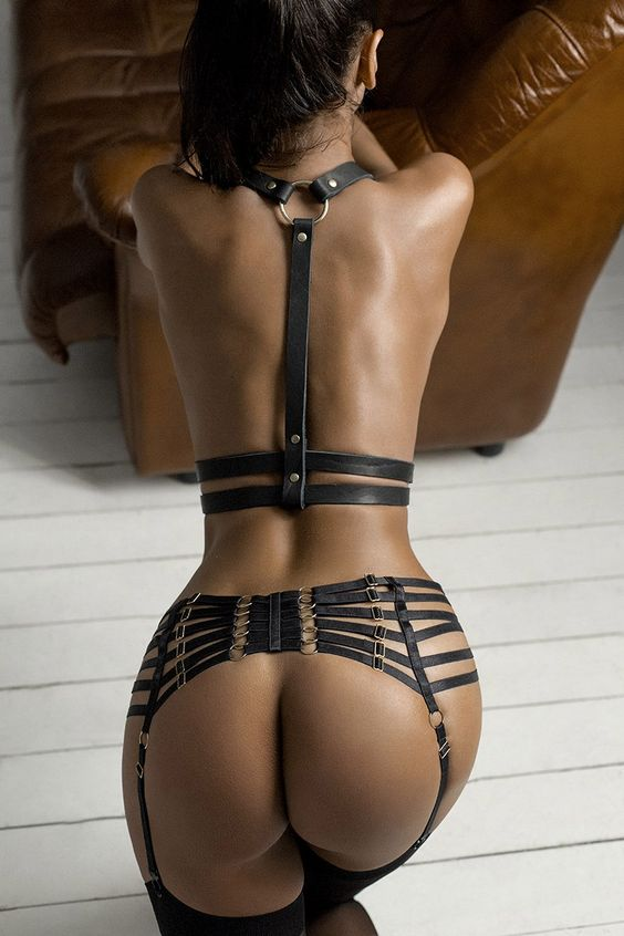 Sexy Female Leather Harness