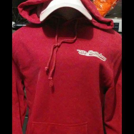 Billabong Sweatshirt Red hoodie really good condition.super cute thin light material Billabong Sweaters