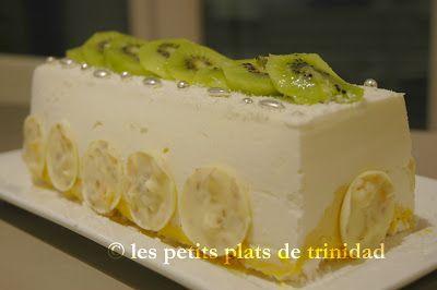 Les petits plats de trinidad b che glac e mangue passion yaourt miel citron noel ses - Petit plat en equilibre buche de noel ...