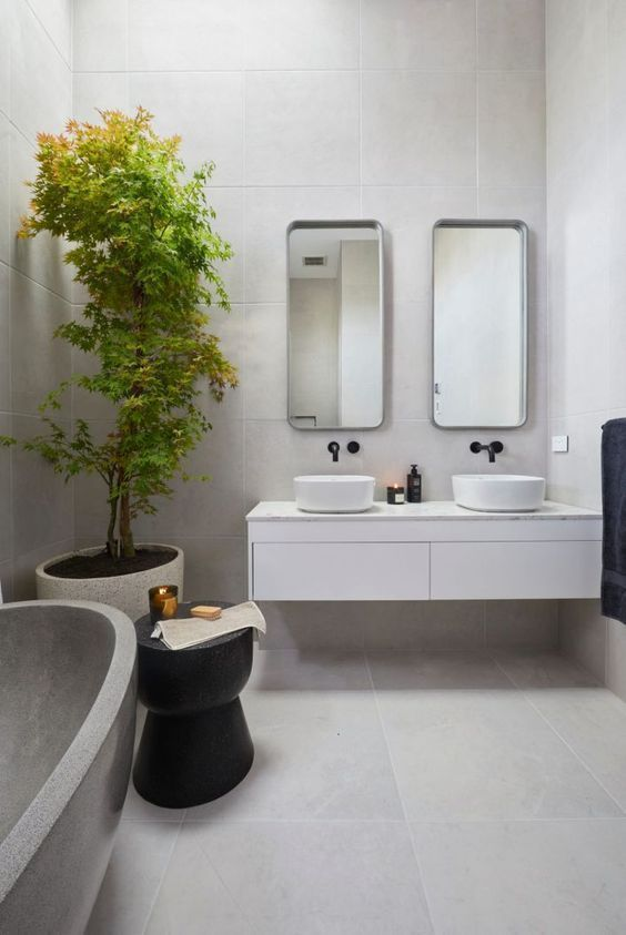 Modern Bathroom Figuring Out Which Are The Best Modern Bathroom Ideas And Using Them Is A Bit Trick Big Bathroom Designs Big Bathrooms Bathroom Design Trends