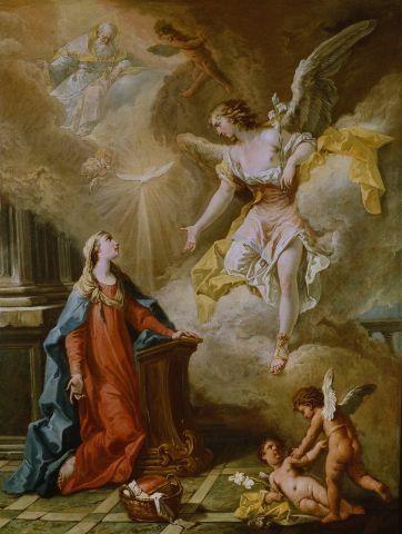 Sebastiano Ricci - Annunciazione.olio su tela, cm 103x79,Museo Civico,Belluno