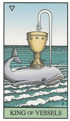 Tarot Alquímico de Robert Place: king of cups
