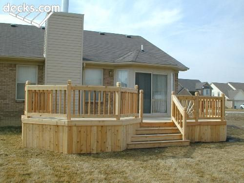 Decks Types Of And Back Deck On Pinterest