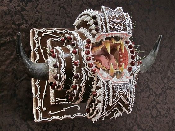 """Acrylic Sculpture by Scott Hove: """"Chocolate Beast"""""""