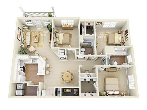 Glen Park Apartment Homes Apartments Smyrna Ga Zillow House Floor Plans Sims House Design Bungalow House Design