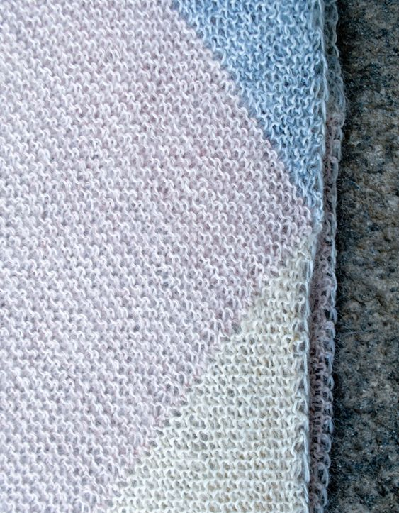 Whit's Knits: Just Triangles EntrelacScarf