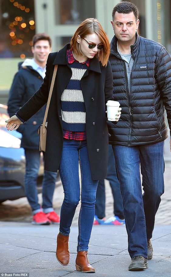Morning beverage: The 25-year-old is often spotted with a coffee to go while in the Big Apple