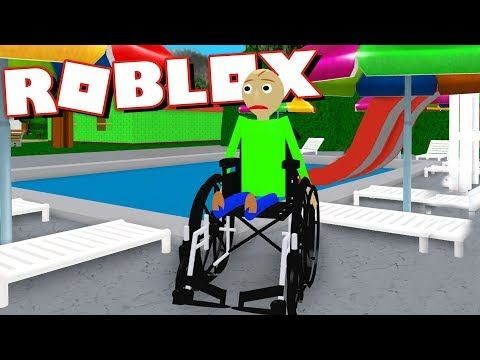 Playing As Baldi In A Wheelchair And Going For A Swim Roblox