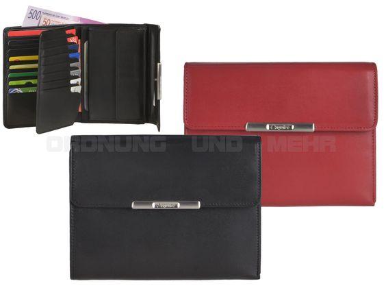Esquire HELENA 50 - Leder Geldbörse (20KF) Portemonnaie - schwarz oder rot 1228-50