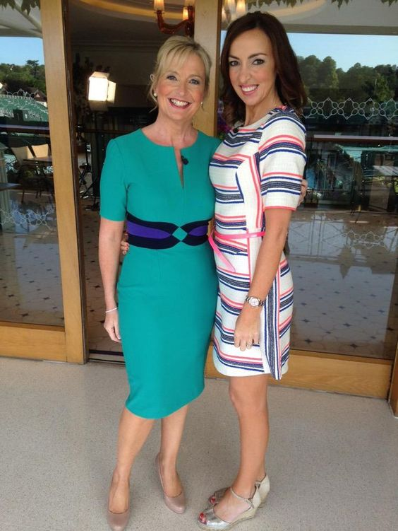 Sally Nugent with a friend