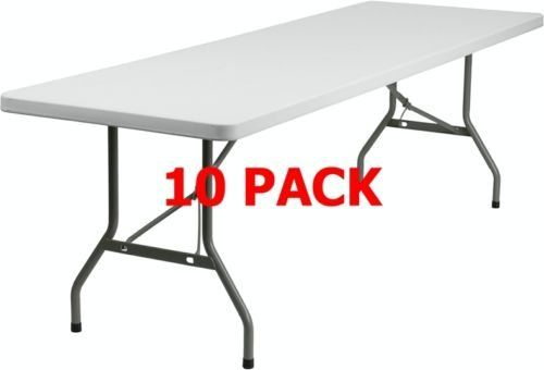 10 Pack 30 W X 96 L Commercial Quality Plastic Folding Table Banquet Table Folding Table Kitchen Design Banquet Tables