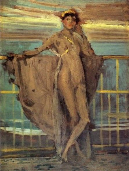 Sketch for Annabel Lee by James McNeill Whistler