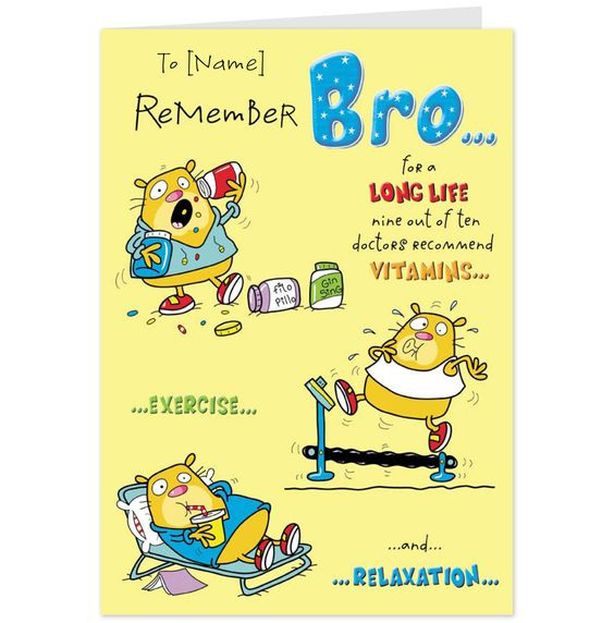 birthday greetings for brother – Hallmark Personalised Birthday Cards