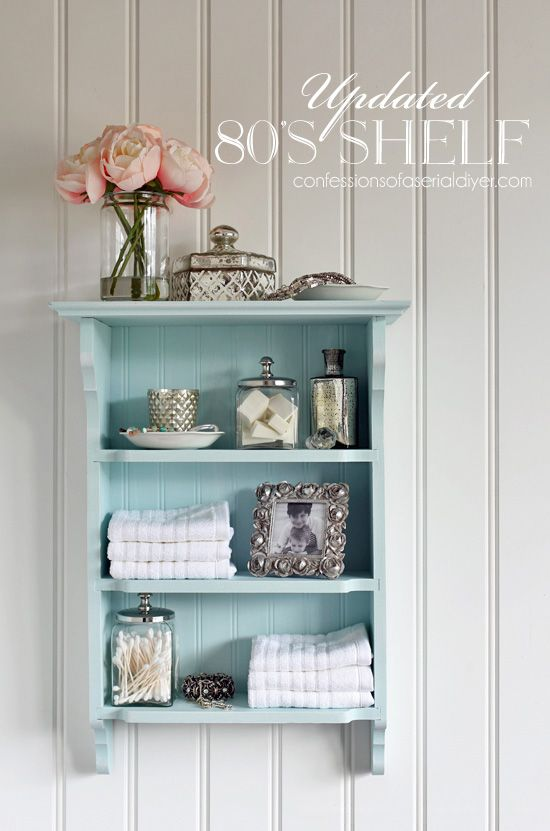 80 S Shelf Gets An Update Shabby Chic Shelves Shabby Chic Room Shabby Chic Bathroom