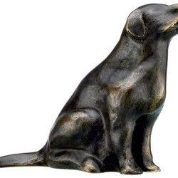 """Bronze-Skulptur """"Retriever"""" von Mechtild Born (2012), http://www.kunstplaza.de/online-galerie/"""
