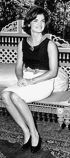 """Jacqueline Lee (Bouvier) Kennedy Onassis commonly known as """"Jackie"""" (July 28, 1929 – May 19, 1994) was the wife of the 35th President of the United States, John F. Kennedy, and First Lady of the United States during his presidency from 1961 until his assassination in 1963."""