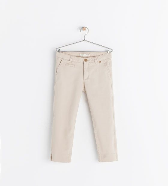 Image 1 of CHINO STYLE STRAIGHT TROUSERS from Zara